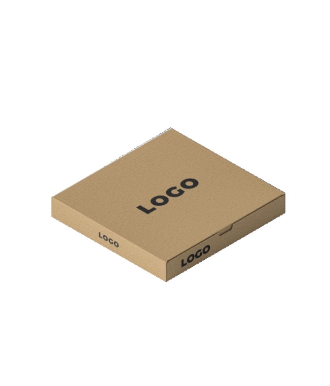 caja con logotipo